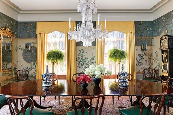 Chinoiserie in room design 21 modern exotic spaces for Period dining room ideas