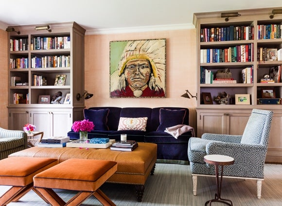 6 Well-Accessorized Mid-century-Modern Living Rooms mid-century modern 6 Well-Accessorized Mid-century Modern Living Rooms eclectic traditional office and study rye ny by sara gilbane interiors