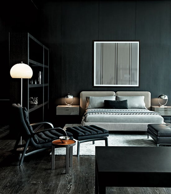 seductive bedroom design and photo by italian furniture studio