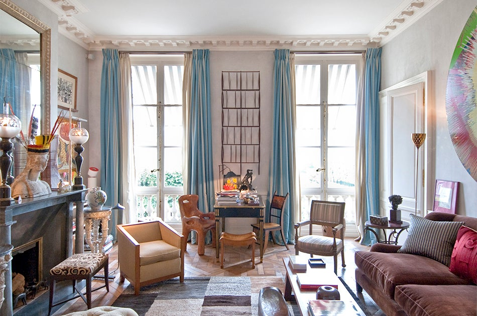 Paris living room decor