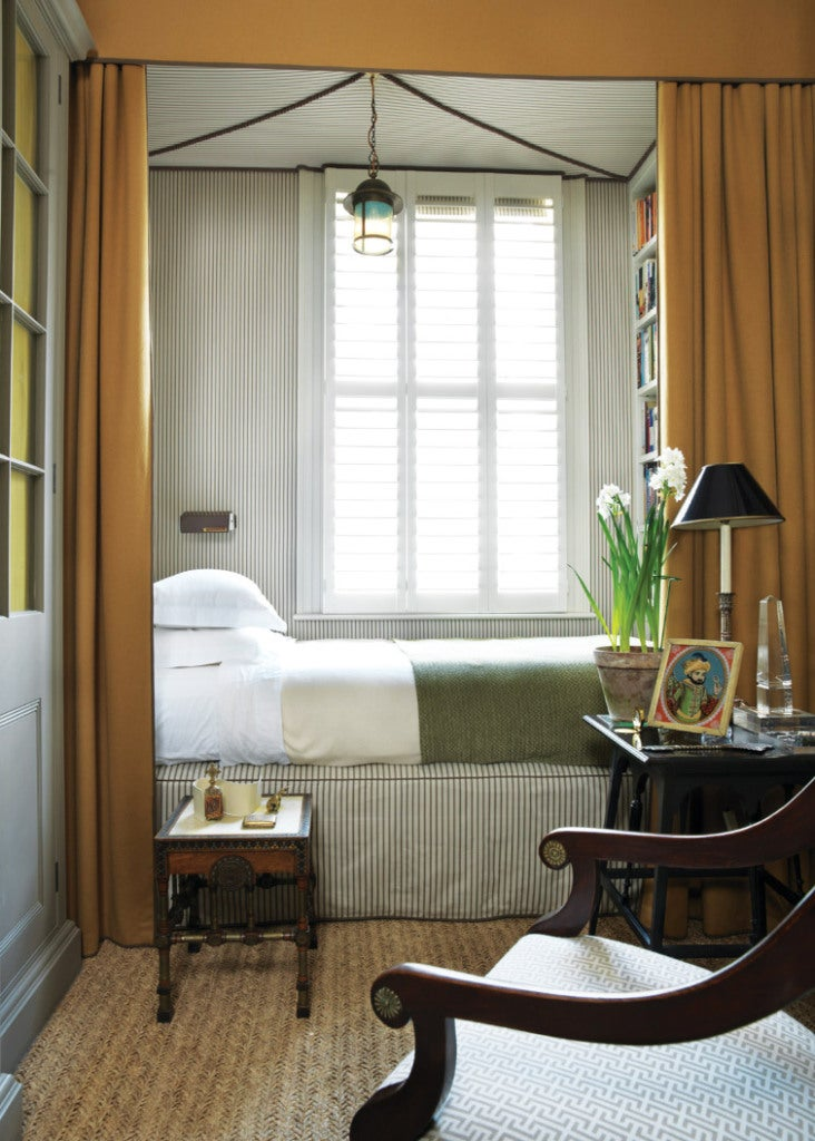 Very Narrow Bedroom Ideas This room designed by Veere Grenney ...
