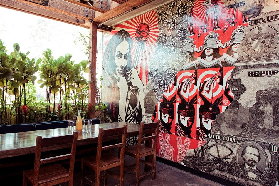 Rande gerber designing atmosphere and tequila for Cafe wall mural