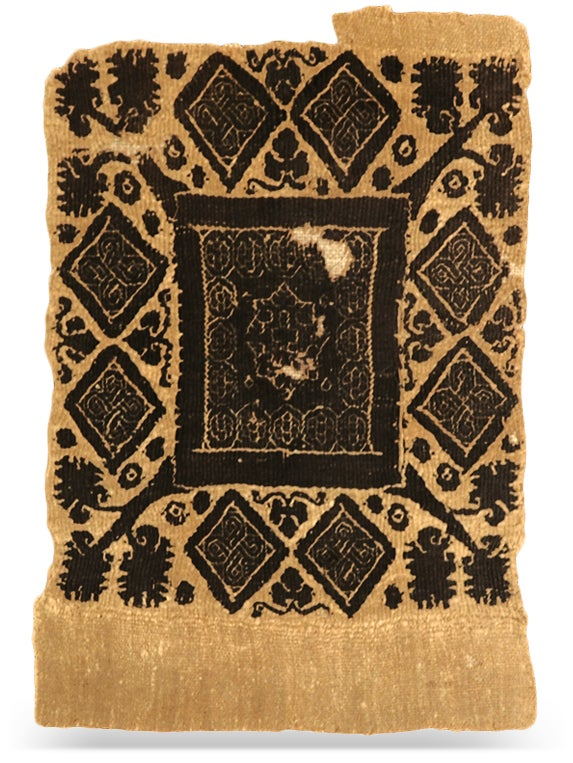 A sixth-century wool and linen Coptic costume insert panel from Egypt was among Festa's early acquisitions.