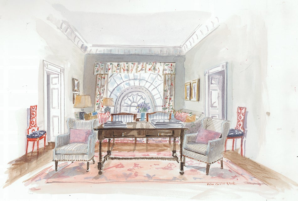 5 designers 39 white house interiors for clinton and trump for Sitting hall interior designs