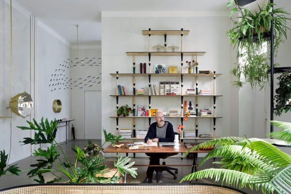 Pietro Russo desk and bookshelves