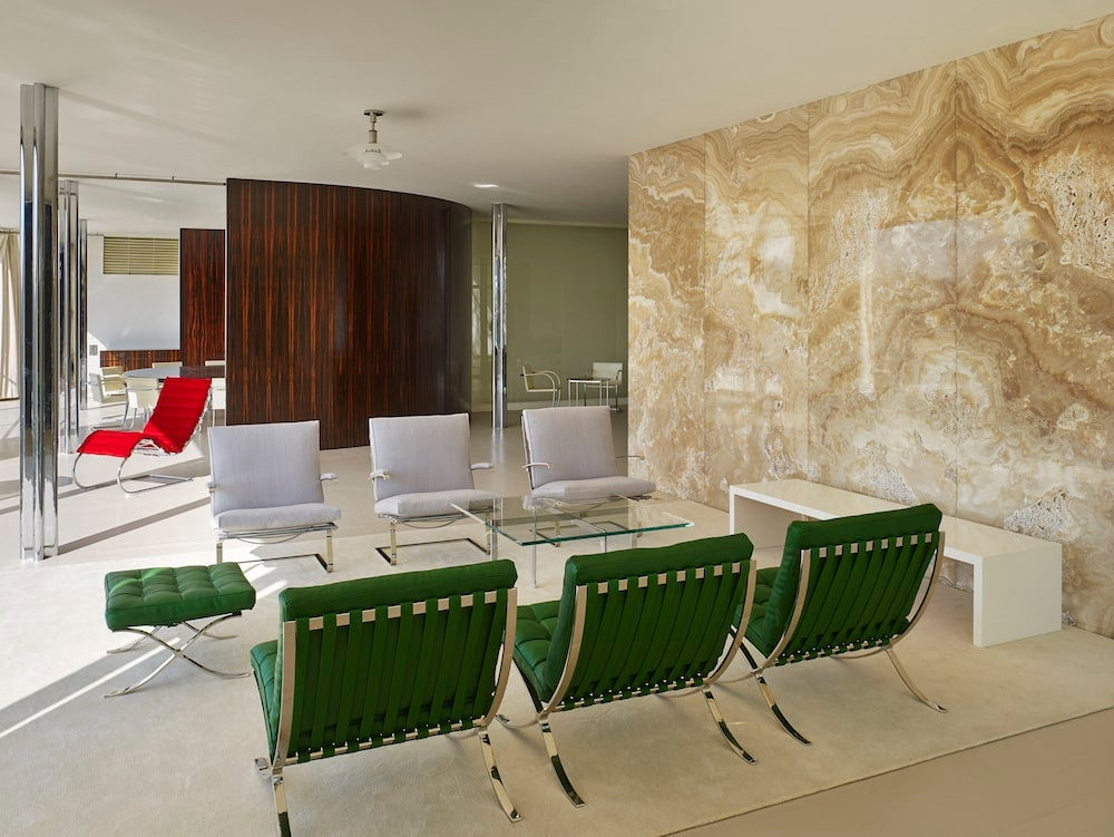 Lounge of Mies van der Rohe's Villa Tugendhat