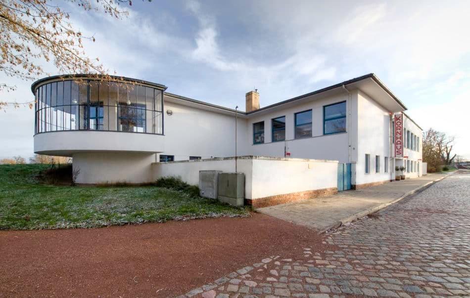 Kornhaus in Dessau, designed by Carl Fieger