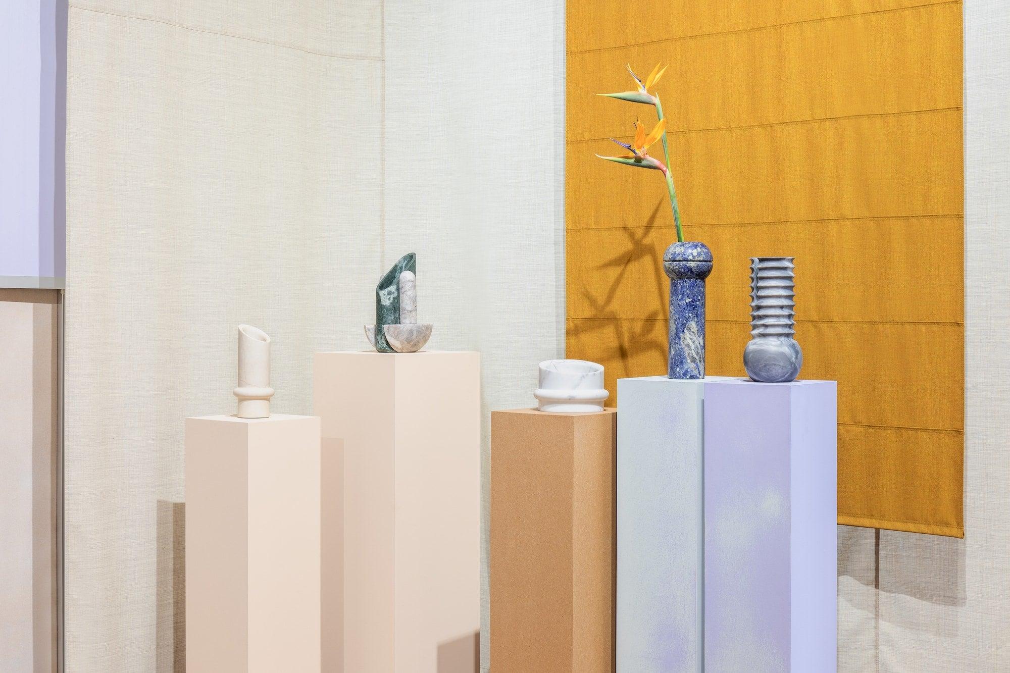 Simultanea marble vases by Valentina Cameranesi Sgroi at SEM