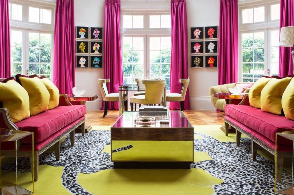 Samantha Todhunter Design Ltd. Chelsea living room