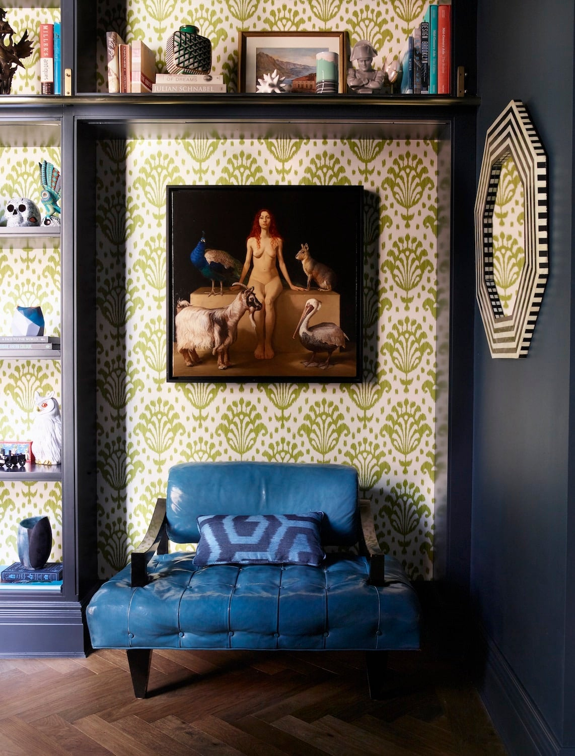 Farrow and Ball's Hague Blue, used by Rebekah Caudwell