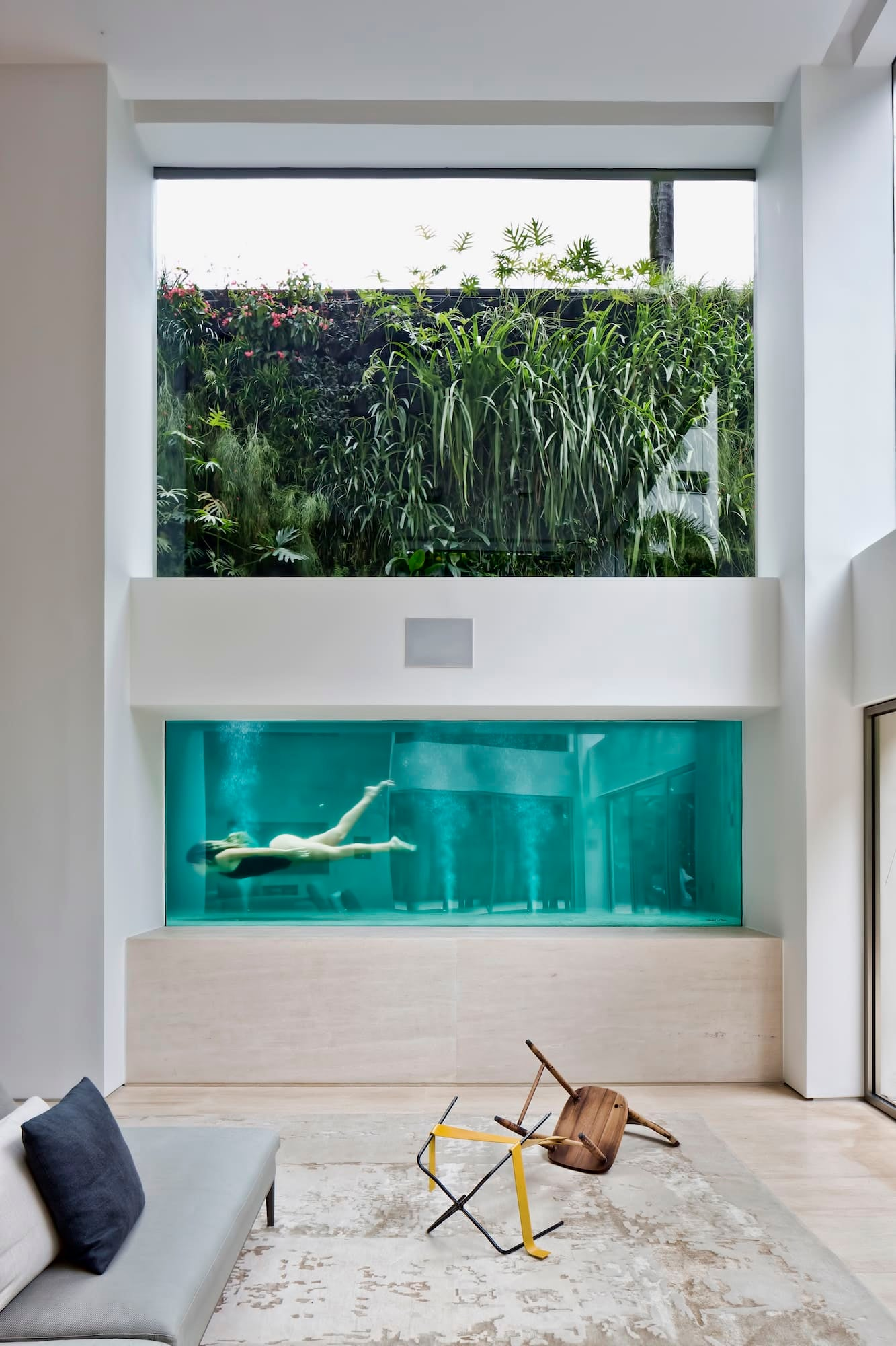 I Decided To Place The Pool Front And Center In Living Room So That Addition Enjoying It For Leisure Would Create An Element Of Tension