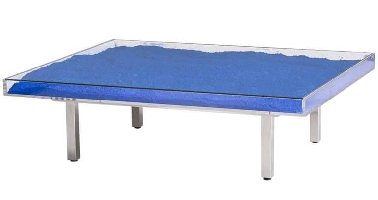 Yves Klein table in blue from David Gill Gallery