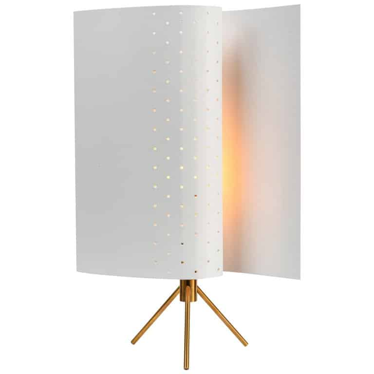 Michel Buffet's B 207 White Table Lamp