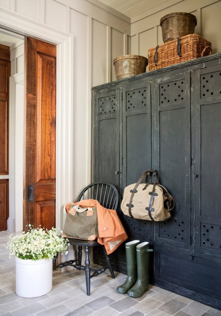 Blackberry Farm mudroom by Suzanne Kasler
