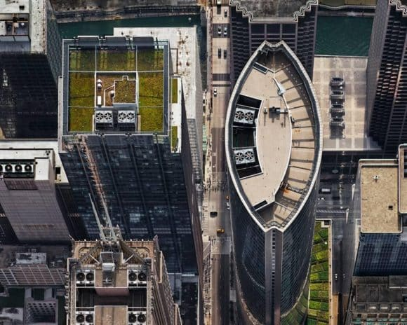 Brad Temkin's 2013 photograph, 111 S. Wacker Drive (from above, looking west - Travel Guide: Chicago Vintage And Antique Furniture Dealers The Study