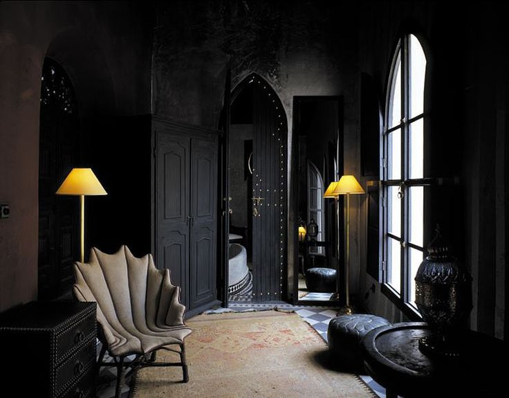Gothic Arch Windows Spiky Anthropomorphic Furniture The Exquisite Richly Layered Riad Dar Darma Hotel In Marrakech Morocco Epitomizes Dark Elegance