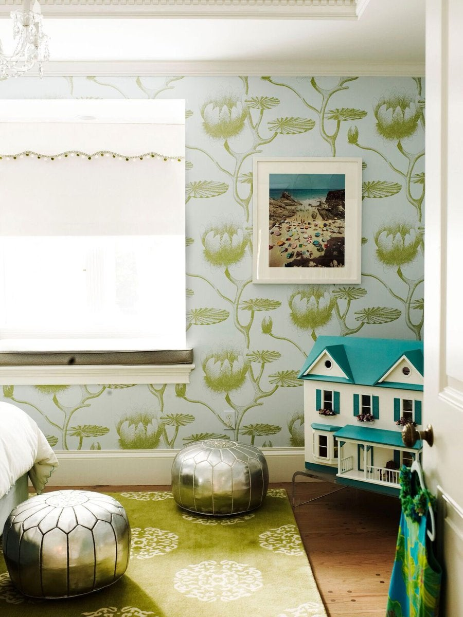blue and green children's room by Fawn Galli