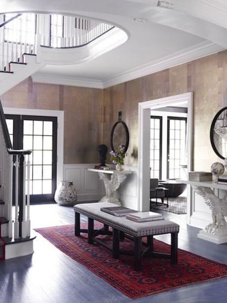 For the foyer of this Greenwich, Connecticut country home, interior ...