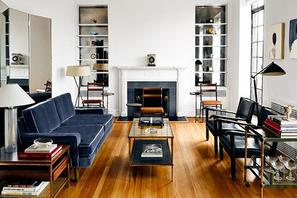 Set In A 1930s Brick Building Thom Browne S Greenwich Village Apartment Is Furnished With Several Wood Pieces By Jacques Adnet And Dunbar Alike