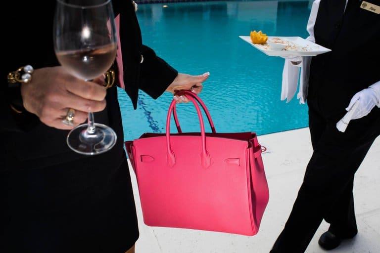 Pink Bag, Mar-a-Lago, High Season series, Palm Beach, 2018, by Landon Nordeman