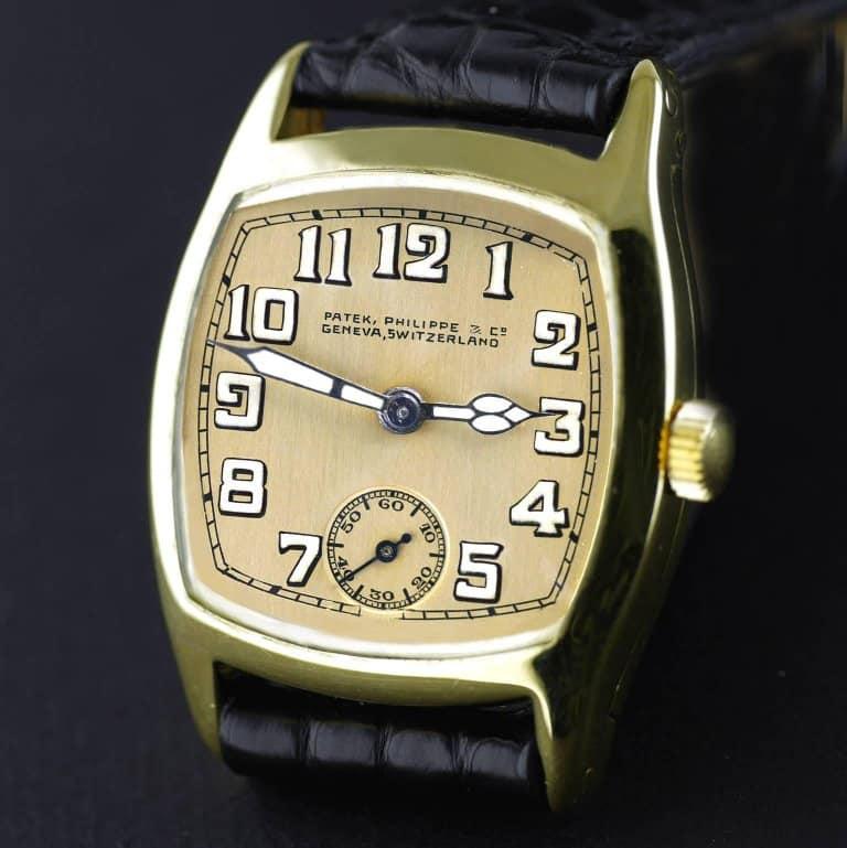 Patek Philippe Art Deco yellow gold wristwatch, 1926