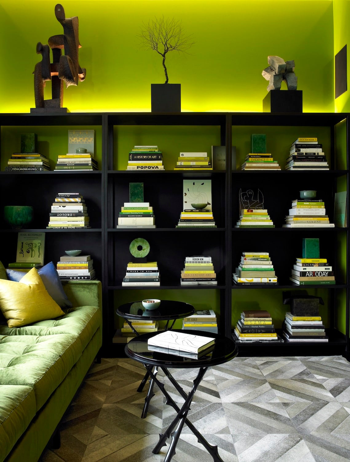 Acid green paint, used by David Mann of MR Architecture + Decor