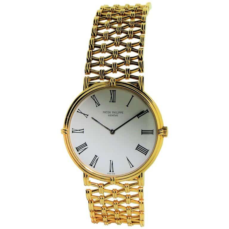 Patek Philippe Yellow Gold Screw Back Bracelet Manual Wristwatch, circa 1970s