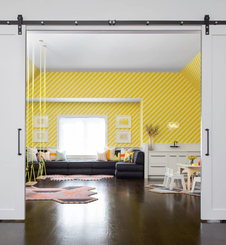 yellow playroom by Chango & Co.