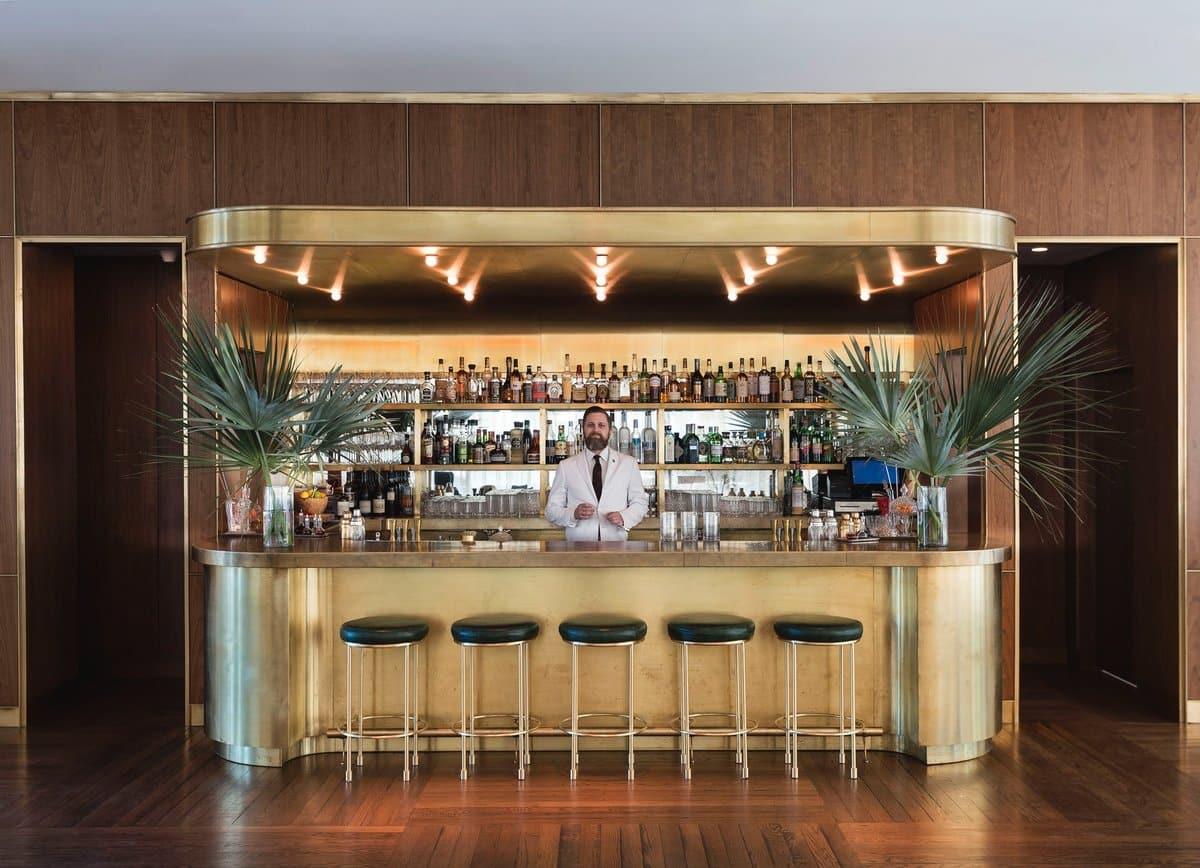 gold hotel bar