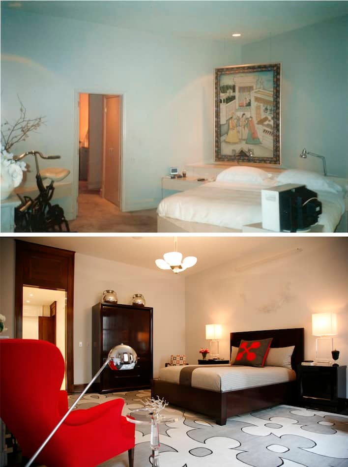 modern bedroom before and after by White Webb