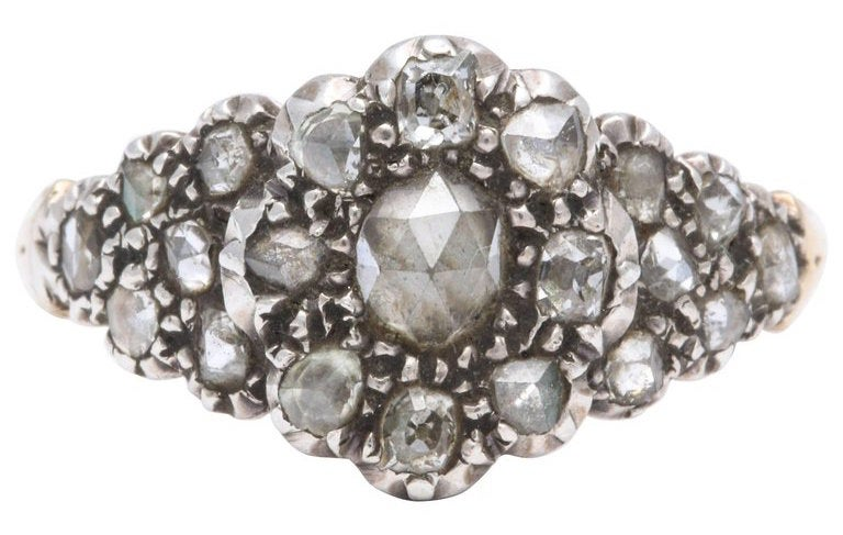 diamond cluster ring