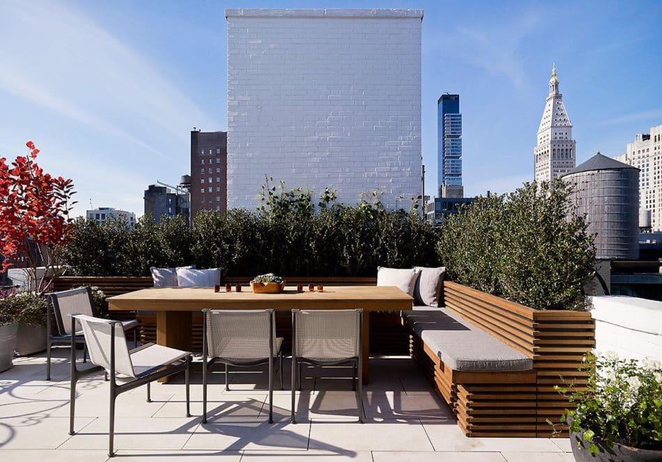 Gramercy Park patio by Fox-Nahem