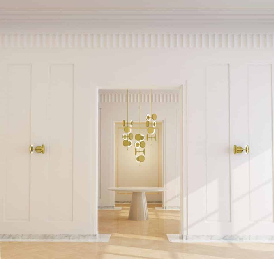 Le Royer Chandelier by Larose Guyon