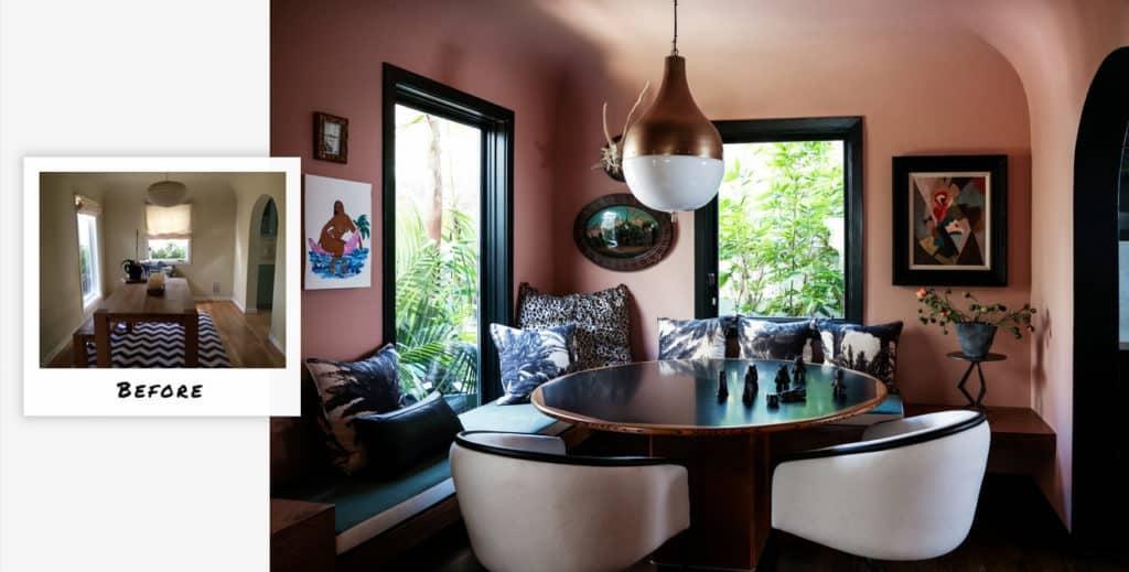 Bohemian Venice Beach dining room update by Studio Hus.