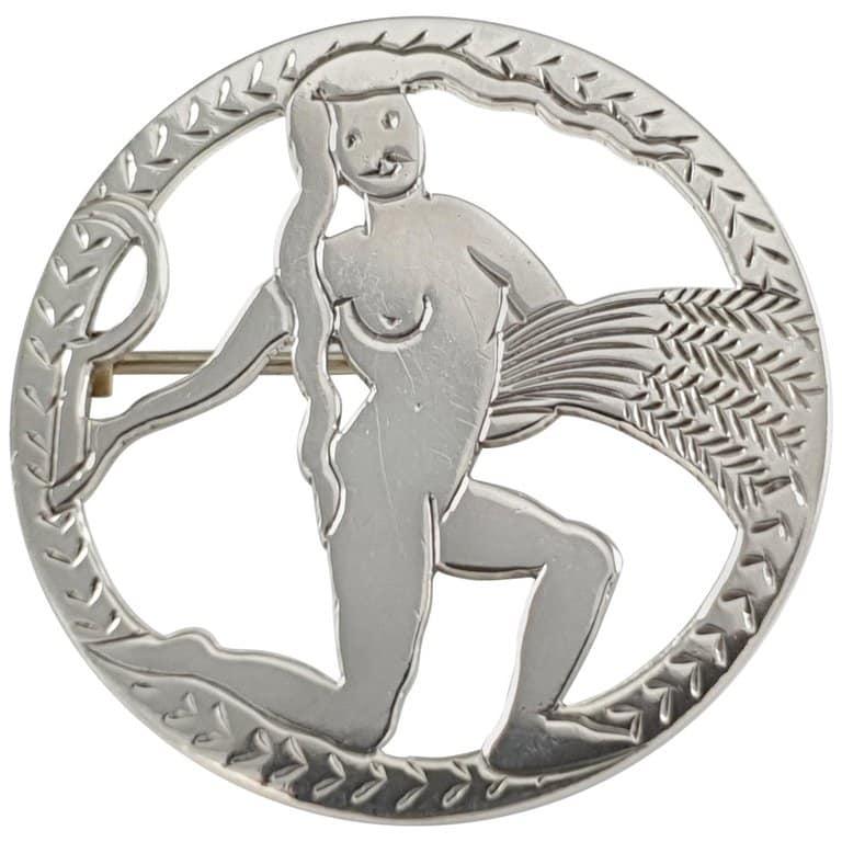 H.G. Murphy sterling silver virgo brooch