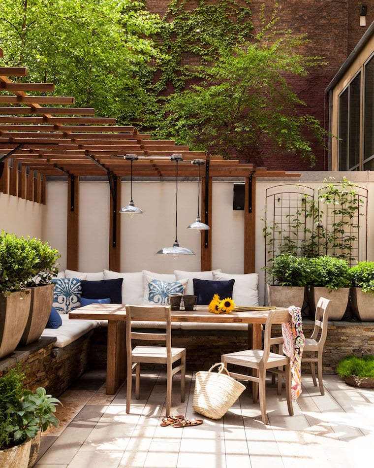 Tribeca patio by Sara Gilbane