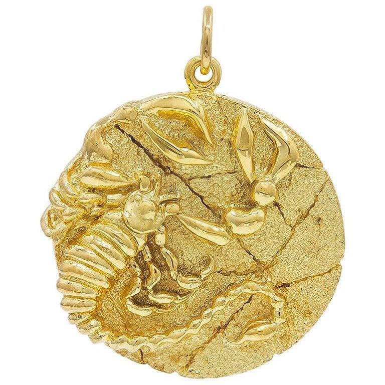 Tiffany & Co. gold scorpio pendant, 1960s