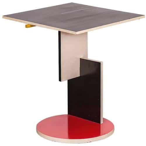Gerrit Rietveld's Schroeder table, 1977