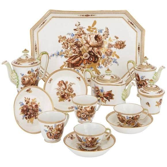 Meissen Porcelain tea and coffee set, early 19th century