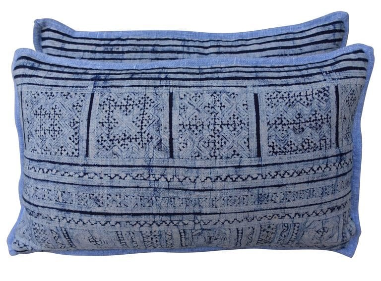 Indian batik pillows, 21st century