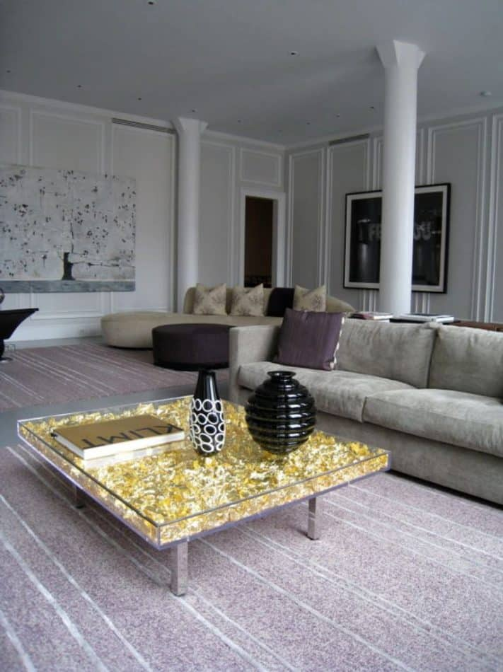 Yves Klein monogold table