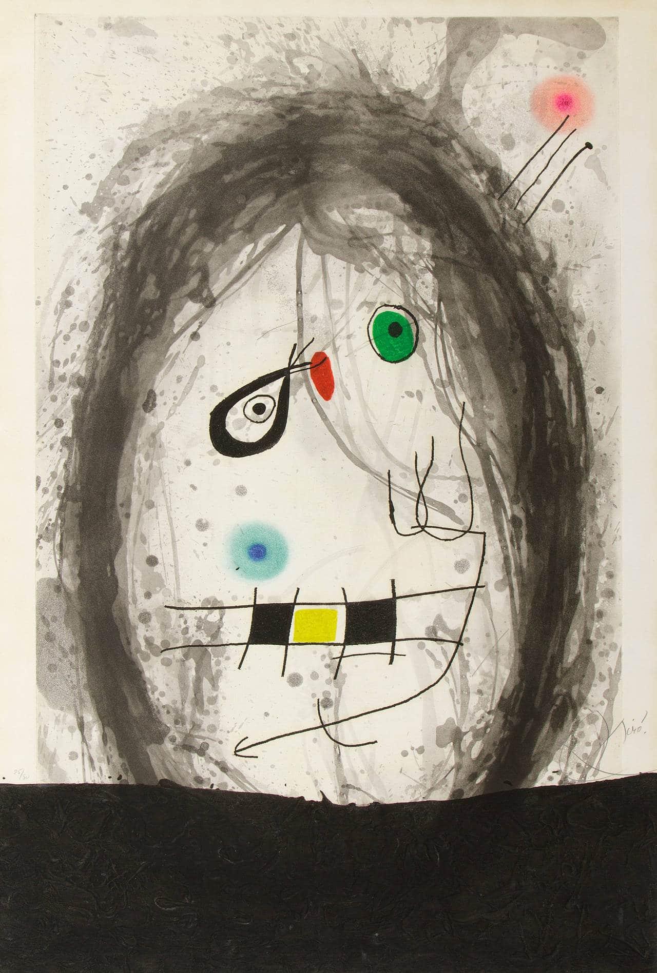 L'Exile Noir, 1969, by Joan Miró