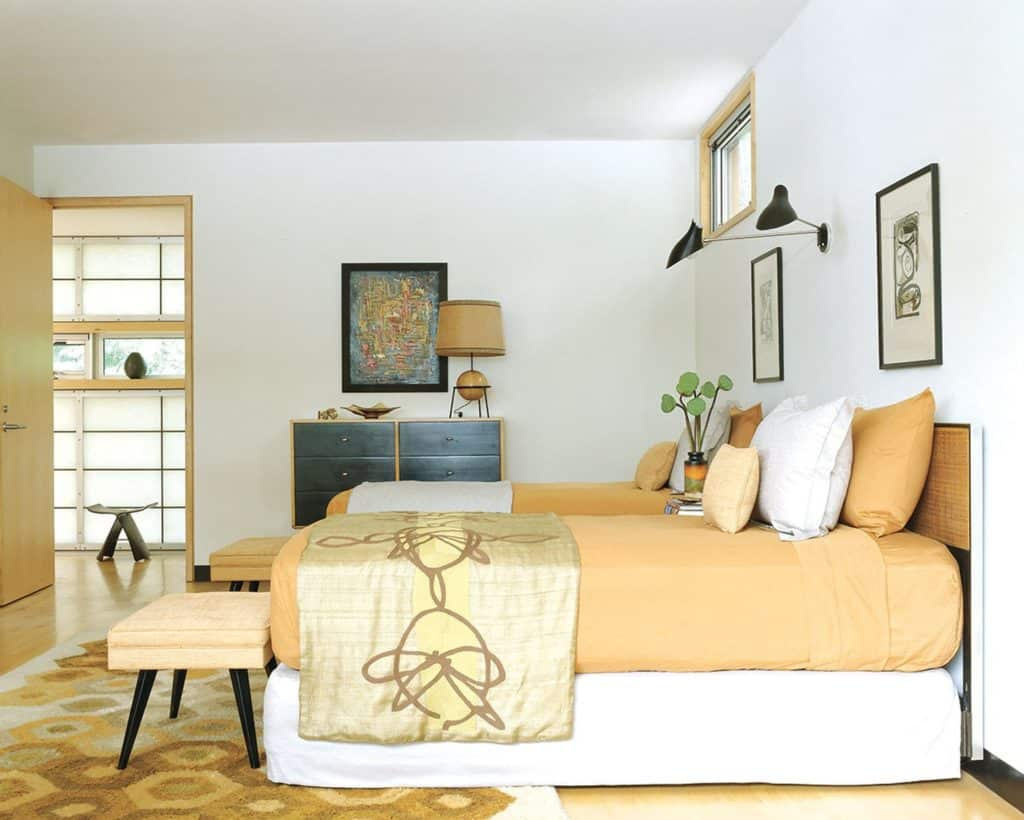 lake house bedroom by Amy Lau