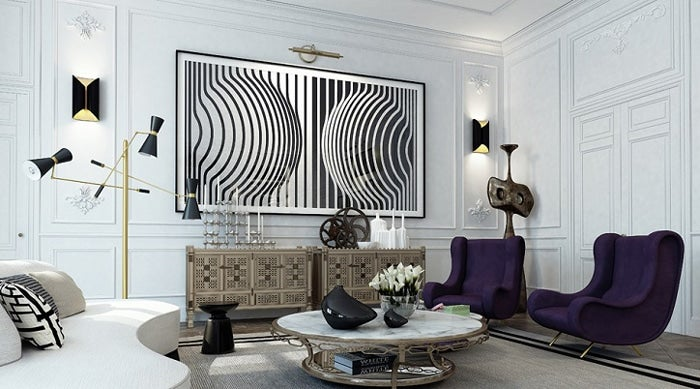The Israeli Design Firm Ando Studio Mixed French Modern, Op Art And  Industrial Pieces For This Eclectic Yet Elegant St. Germain Sitting Room.