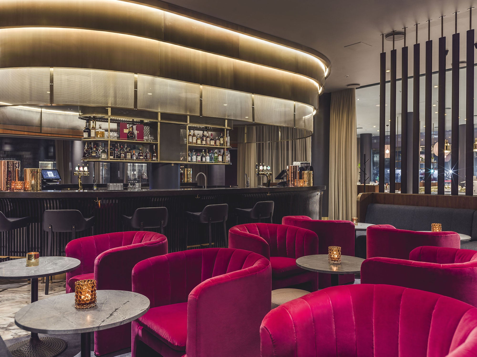 The Café Royal bar of the Radisson Blu Royal Hotel in Copenhagen designed by Arne Jacobsen