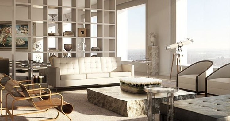 Architect And Interior Designer Deborah Berkeu0027s Light Filled Aerie At The  New 432 Park Avenue Building In New York Features Paimio Armchairs By Alvar  Aalto.