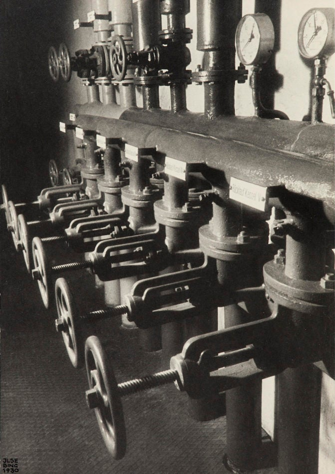 Heating Pipes in Basement, 1930 by Ilse Bing