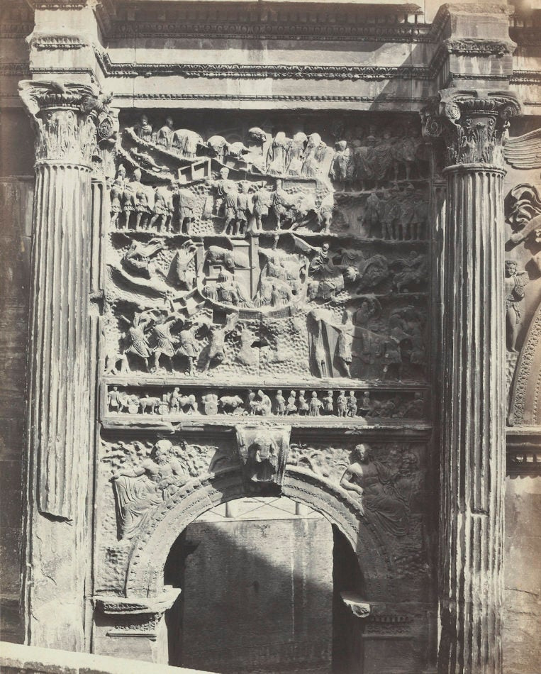 Arch of Constantine in Rome, 1860s, by the Bisson brothers