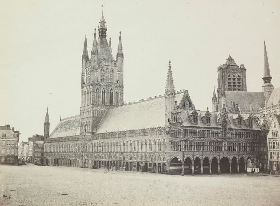 Palace With Clock Tower, 1860s, by the Bisson brothers