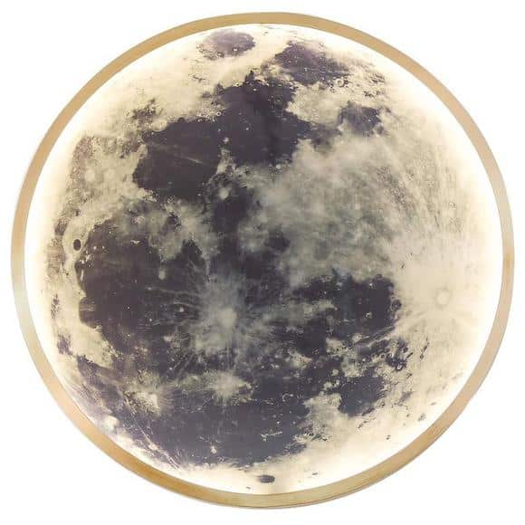 Ben and Aja Blanc's wall-mounted Moon light